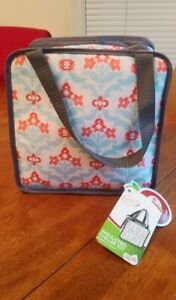 FIT FRESH INSULATED LUNCH BAG w CHILLER SET 3 PIECE NEW w TAGS Keeps Food Fresh
