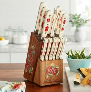 The Pioneer Woman Vintage Floral 14-Piece Cutlery Set