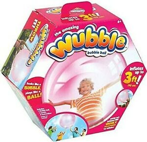 The Amazing Wubble Bubble Ball Inflatable 3 Feet Pink WITH Pump Damaged Box