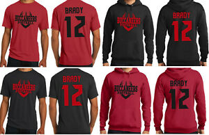 Tom Brady Tampa Bay Buccaneers Jersey T Shirt or Hoodie Youth and Mens Sizes $21.99