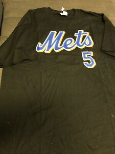 New Mets DAVID WRIGHT #5 New York Mets JERSEY T Shirt Stitched New NWT 2X
