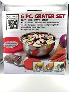 Kitchen Corner 6 piece Grater Set NIB $11.99