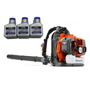 Husqvarna 150BT Backpack Blower Hand Throttle 2 Cycle Gas Powered w/ XP Oil