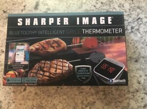 New Sharper Image Bluetooth Intellegent Grill Thermometer Use  W/ Cell Phone