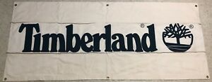Banner Vintage 90s Canvas TIMBERLAND Boots Store Sign Display Promo Advertising