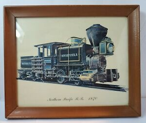 Midcebtury Northern Pacific RR 1870 Print Framed 10