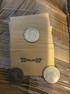 100 Large Dollar Coin Flat Wrappers fits Morgan, Peace, & Eisenhower Ike