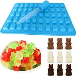 50 Silicone Cavity Gummy Bear Chocolate Mold Candy Maker Ice Tray Jelly Mould O3