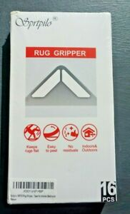 Rug Gripper. Easy to peel. Keeps rugs flat. No residuals. Indoors and outdoors