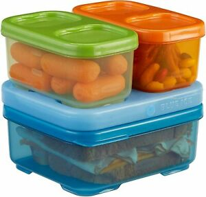 Rubbermaid LunchBlox Kids Lunch Box & Food Prep Containers with Blue Ice