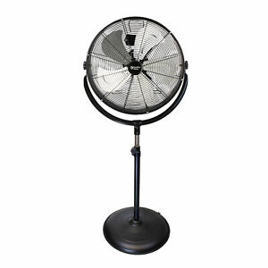 Comfort Zone 20 Inch High Velocity 3 Speed 180 Degree Drum Fan Black For Parts