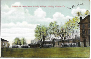 C1910 Students of Pennsylvania Military College Drilling Chester PA Postcard $9.99