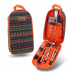 Bisgear 14pc Backpacking Camping Cookware BBQ Picnic Water Resistant Case Orange