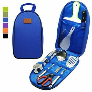 Gold Armour 8pcs Camping Cookware Kitchen Utensil Organizer Travel BBQ Picnic