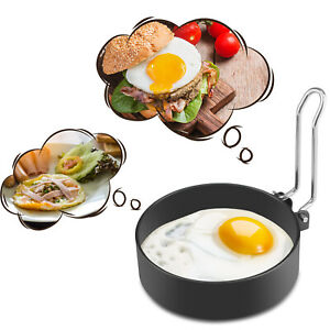 Nonstick Stainless Steel Handle Round Fried Egg Rings Shaper Pancakes Molds Ring