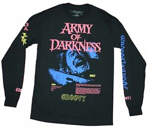 Army of Darkness Mens Long Sleeve T shirt Screaming Ash Under Logo $25.99