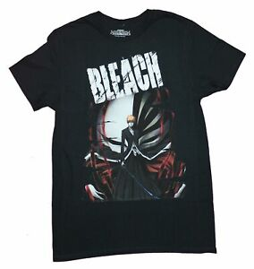 Bleach Mens T Shirt Ichigo In Front of Mask Under Logo $19.99