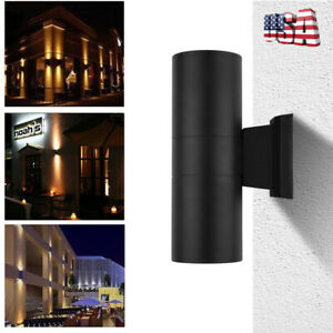 Outdoor Cylinder Dual Up Down Aluminum COB LED Lamp Waterproof Wall Light Sconce