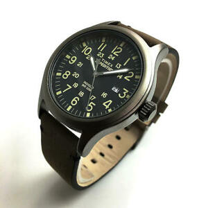 Men#x27;s Timex Expedition Scout Leather Strap Watch TW4B01700