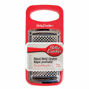Betty Crocker Hand Held Grater with Convenient Storage Box Attached