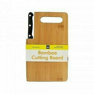 NEW! Bamboo Cutting Board and Knife set | Free Shipping in USA