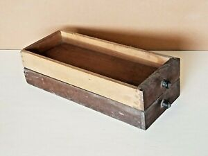 Pair of Vtg. Wooden Wood Treadle Sewing Machine Drawers 15quot;x6quot;x2quot; $19.99