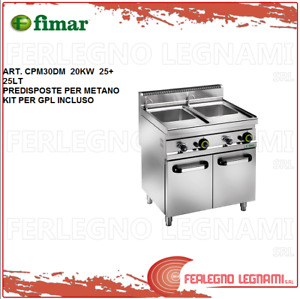 Pasta Cooker Gas Methane + Kit for Gpl. with Furniture 20KW 25+ 25LT Fimar