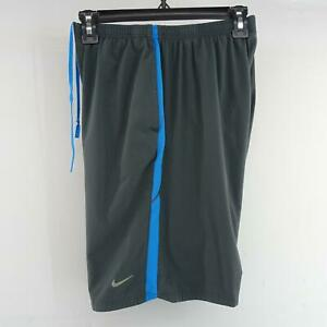 Mens Nike Running Dri Fit Gray Performance Athletic Workout Short Size Small Run $22.94