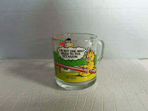 1978 MCDONALDS GARFIELD IM NOT ONE WHO RISES TO THE OCCASION GLASS G648