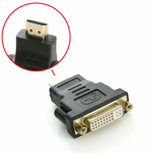 DVI Female To HDMI Male Connector Adapter Converter 1080P PC Desktop TV Laptop