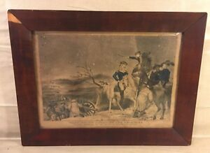 N Currier Lithograph of Washington Crossing the Delaware December 25 1776 $399.20