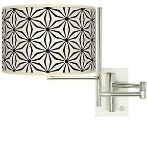 Tempo Kaleidoscope Flowers Plug-in Swing Arm Wall Lamp
