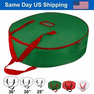 Christmas Xmas Wreath Storage Bag with Handles for 25 30 36 Wreath Clean up $14.86