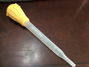 NEW Turkey meat chicken baster BBQ oven cooking tube pump  YELLOW rubber