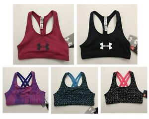 Under Armour NWT Size S L XL Youth Girls Sports Bra Workout Athletic Racer Back $12.95
