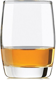 Circleware Heavy Base Scotch Whiskey Glass Drinking Glasses, Set of 4, Glassware