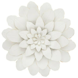 Large White Flower Metal Wall Decor. Fancy Floral Accent $39.99