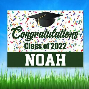 Personalized Class of 2020 Graduation Yard Sign Congratulations Graduate