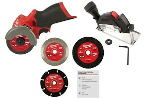 New 12V Milwaukee M12 Fuel 3 Inch Lit-ion Brushless Cordless Cut Off Saw 2522-20