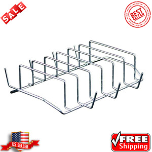 Rib Rack Bbq Grill Steel Outdoor Indoor Oven Smoker Barbecue Camp Accessory 1 lb