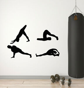 Vinyl Wall Decal Exercise Stretching Health Gymnastics Sport Stickers g2838