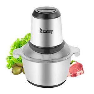 2L Kitchen Electric Meat Grinder Food Sausage Mincer One-Button 300W Mixer US