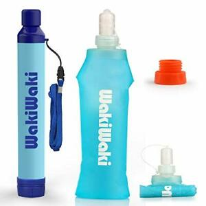 SimPure Water Filter Bottle Emergency Purifier Camping Hiking Backpacking Gift