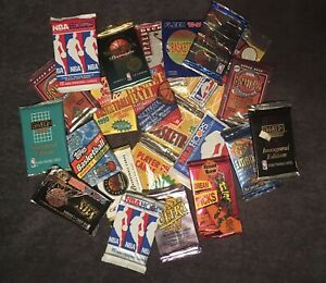 LIQUIDATION OLD VINTAGE UNOPENED NBA Basketball 50 CARDS IN PACKS JORDAN?