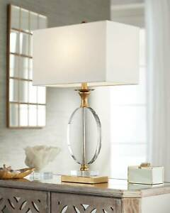 Modern Table Lamp Gold Clear Crystal Glass for Living Room Bedroom Nightstand
