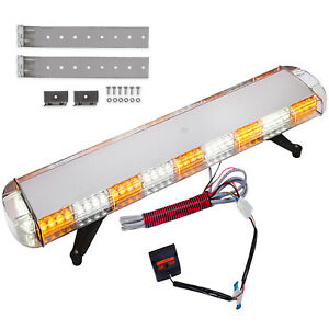 42 88 LED Emergency Work Light Bar Roof Warning Traffic Roof Strobe Flash Amber