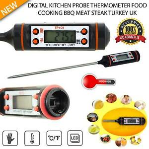 Kitchen Cooking Digital Thermometer Tool Food Probe BBQ Meat Temperature USA