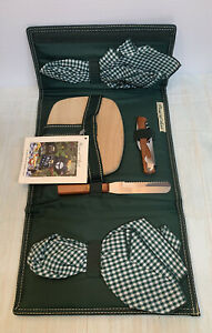 Picnic at Ascot Cheese Cutting Board w Knife Napkins Bottle Hiking Backpacking