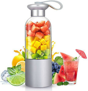 Portable Mini Blender Smoothie Juicer Cup Personal Single Serve USB Rechargeable