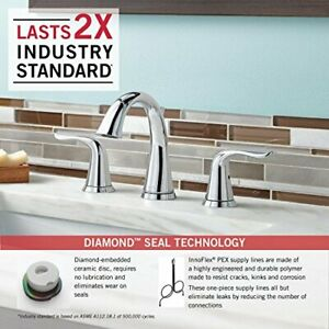 Delta Faucet Lahara 2-Handle Widespread Bathroom Faucet in Chrome 3538-MPU-DST  $743.52